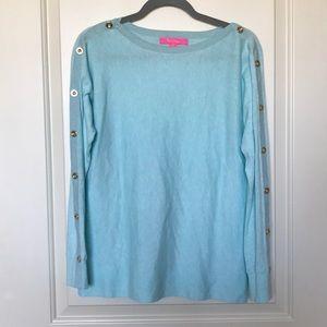 LILLY PULITZER • Light Blue Crew Neck Sweater Sz S